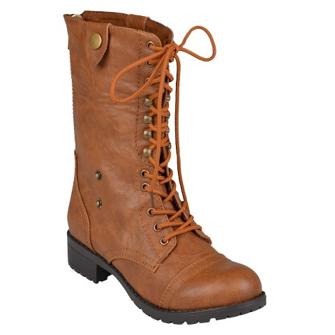 Women's Bamboo By Journee Fold-Over Combat Boots product details page