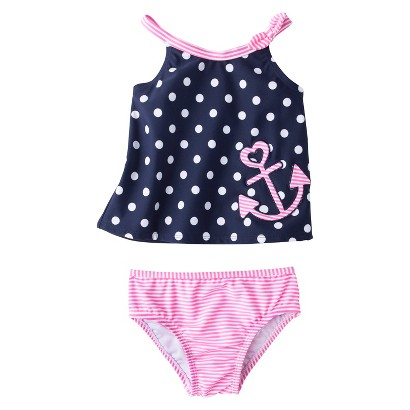 Just One You™ by Carter's® Infant Toddler Girls' 2-Piece Polka Dot Tankini Swimsuit Set