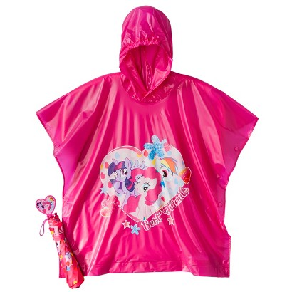 My Little Pony Girls' Umbrella and Poncho Set