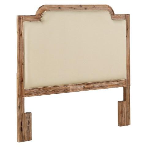 Full Wood Headboard : Dorel Rustic Wood/Fabric Headboard - Queen/Full product details page