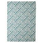 Threshold™ Indoor/Outdoor Flatweave Diamond Area Rug - Turquoise (5'x7')
