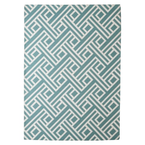 Threshold™ Indoor Outdoor Flatweave Area Rug Blue Tar