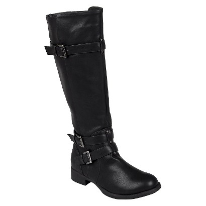 Women's Bamboo By Journee Tall Buckle Boots - Assorted Colors