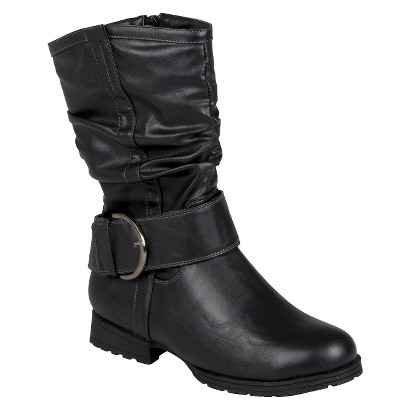 Women's Bamboo By Journee Slouchy Buckle Boots