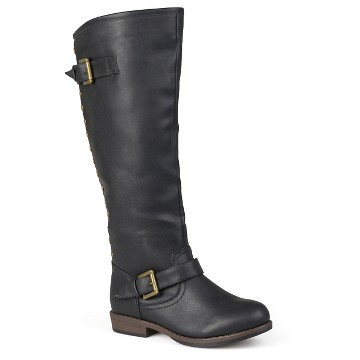 Women's Journee Collection Studded Buckle Detail Boots