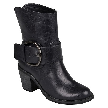 Womens Hailey Jeans Co. Buckle High Heel Boots - Assorted Colors