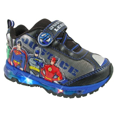 Toddler Boy's Justice League Light Up Sneakers - Silver