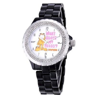 Women's Garfield Enamel Wristwatch - Black