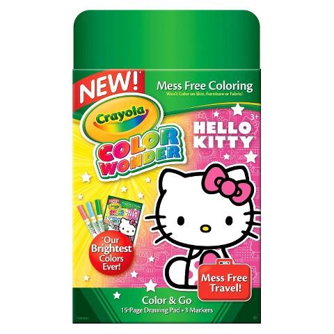 Crayola Color Wonder Mini Pad & Markers - Hello Kitty