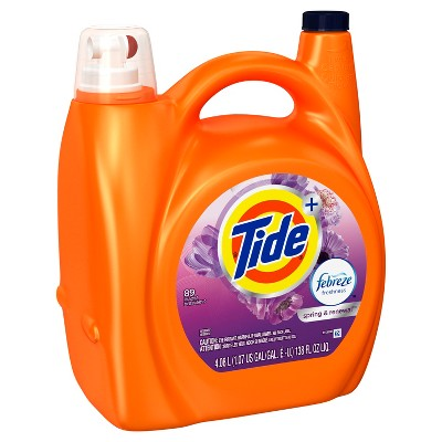 Tide Plus Febreze Sport Active Fresh Liquid Laundry Detergent - 138 oz