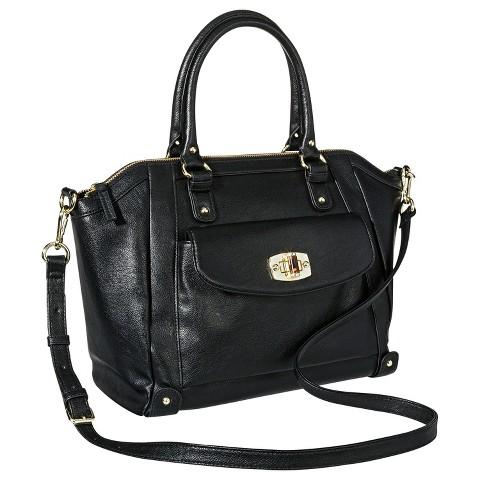 Women's Tote Handbag with Turnlock