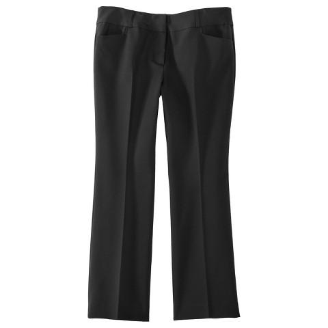 Women's Plus Size Career Pants Black-Pure Energy