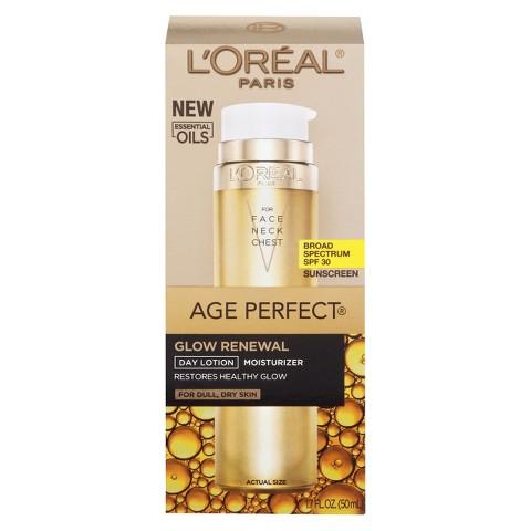 L'Oreal® Paris Age Perfect Glow Renewal SPF 30 Lotion - 1.7 fl  oz