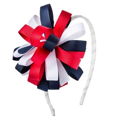 Cherokee® Infant Toddler Girls' Headband - Red/White/Navy