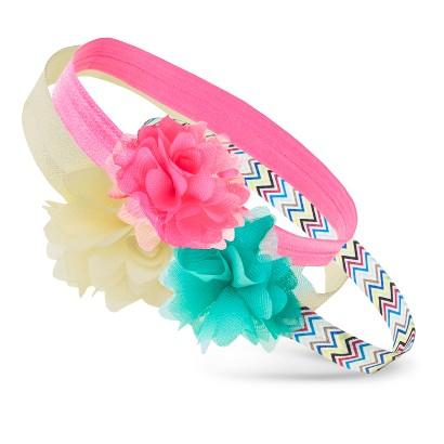 Cherokee® Infant Toddler Girls' 3 Piece Flower Headwrap - Assorted