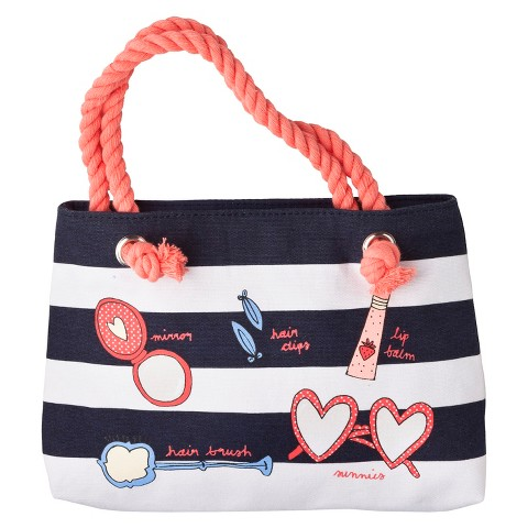 Cherokee® Infant Toddler Girls' Striped Beauty Tote - Navy
