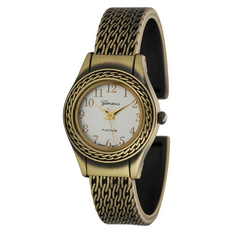 Women's Geneva Platinum Cuff Watch - Gold