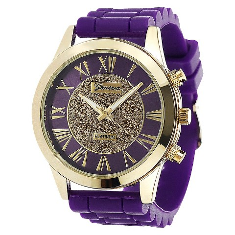 Women's Geneva Platinum Watch - Purple