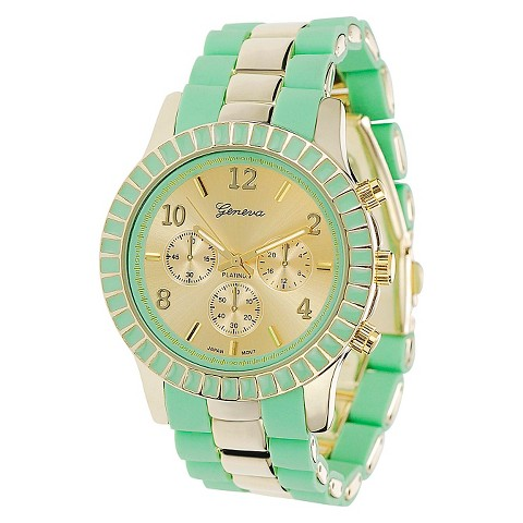 Geneva Platinum Women's Link Watch - Mint