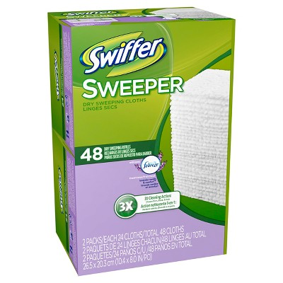 Swiffer Sweeper Febreze Lavender Vanilla & Comfort Scent Dry Sweeping Cloths Refill 48 Count