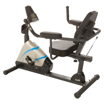 Exerpeutic 2000 High Capacity Programmable Magnetic Recumbent Bike with Air Soft Seat and Heart Pulse
