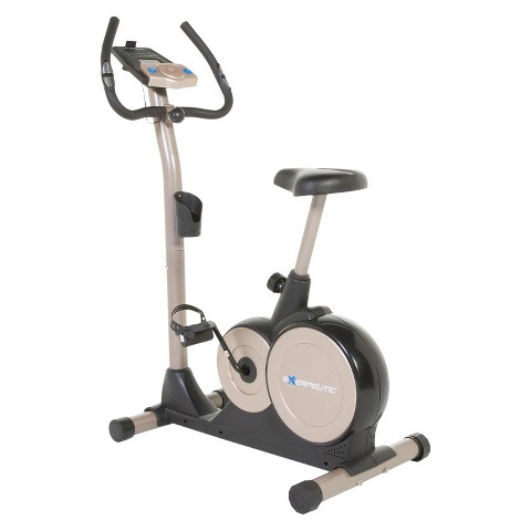 Exerpeutic 3000 Mobile App Tracking Magnetic Upright Bike with Programmable Computer and Bluetooth