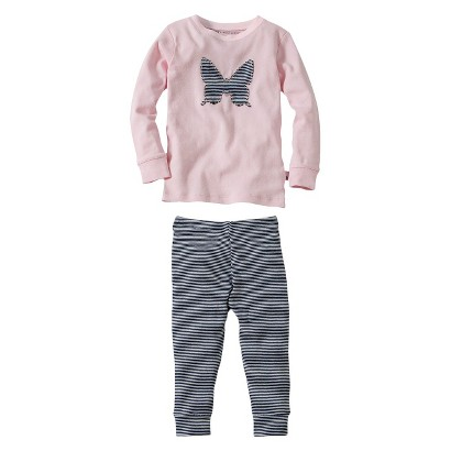 Burt's Bees Baby Infant Toddler Girls' 2-Piece Long-Sleeve Butterfly Pajama Set