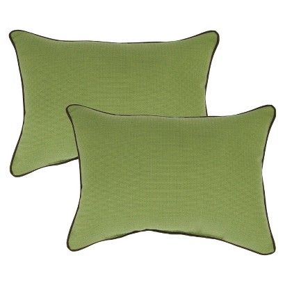 Smith & Hawken® 2-Piece Outdoor Lumbar Pillow Set