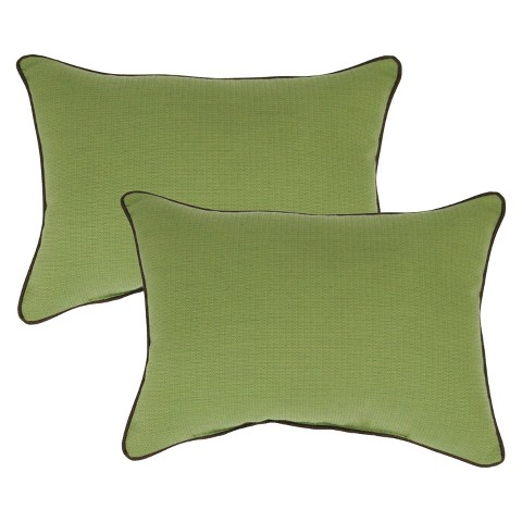 Smith & Hawken™ 2-Piece Outdoor Lumbar Pillow Set