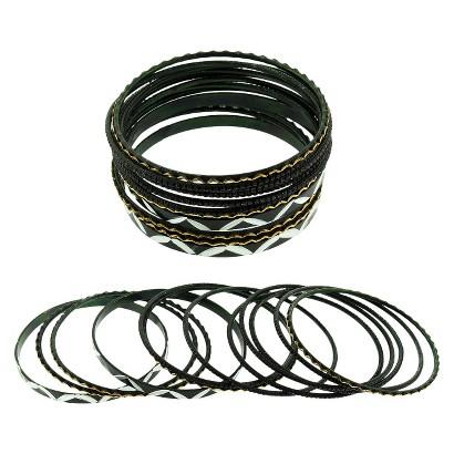 Women's Bangle Bracelet - Black