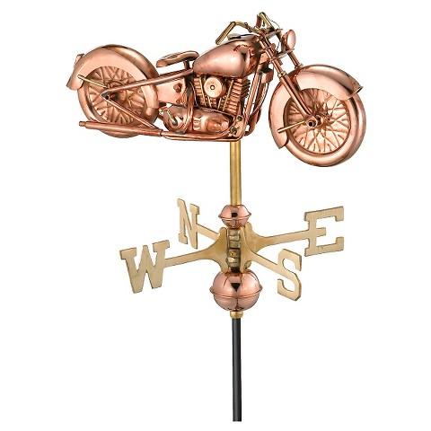 Good Directions Motorcycle Garden Weathervane