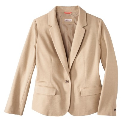 Women's Plus Size Tailored Basket weave Blazer-Merona