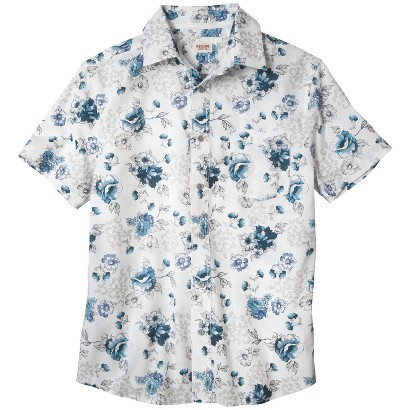 Mossimo Supply Co. Men's Short Sleeve Floral Shirt