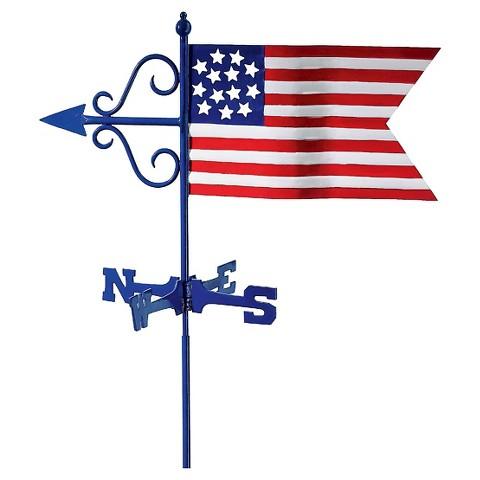 Good Directions American Flag Garden Weathervane