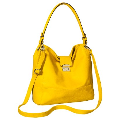 Merona® Solid Hobo Handbag with Removable Crossbody Strap - Yellow