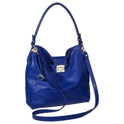 Merona® Solid Hobo Handbag with Removable Crossbody Strap - Blue