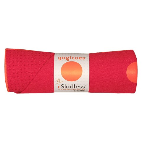 Yogitoes Unisex Skidless® Yoga Mat Towel - Red (24 in. W x 68 in L)
