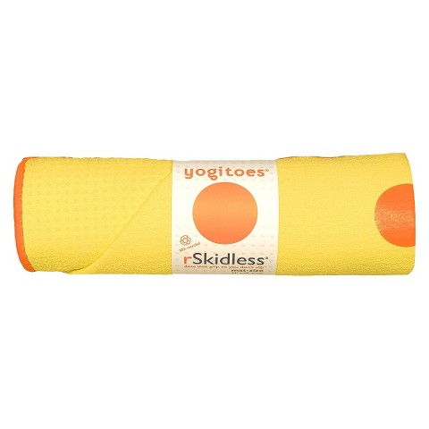 Yogitoes Unisex Skidless® Yoga Mat Towel - Yellow (24 in. W x 68 in L)