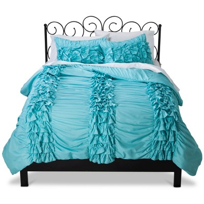 Xhilaration™ Textured Comforter Set - Turquoise/White (Full/Queen)