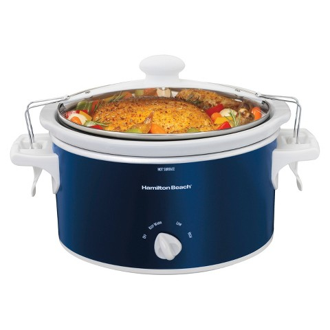Hamilton Beach Stay or Go 4 Qt Slow Cooker - Navy- 33345