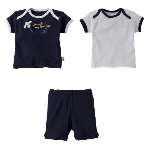 Burt's Bees Toddler Girls' 3-Piece Mix & Match Short-Sleeve Bee and Short Pajama Set
