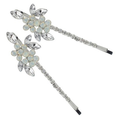 Social Gallery by Roman Bobby Pin Crystal - Silver/Clear