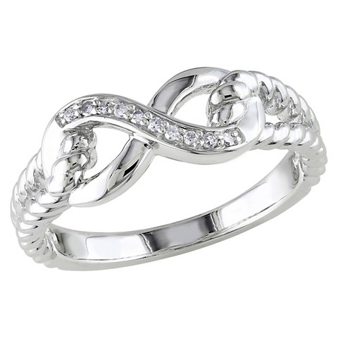 1 CT.T.W. Diamond Infinity Cocktail Ring in Sterling Silver