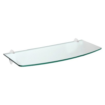 Glass Convex Shelf - Assorted Sizes and Shelf Support Styles
