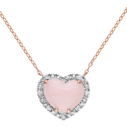 Women's Pink Heart Pendant Necklace - Pink