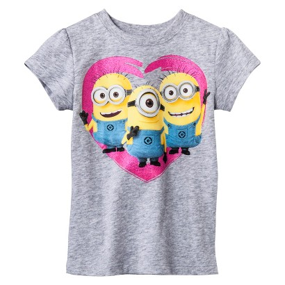 Despicable Me Infant Toddler Girls' Short-Sleeve Minion Heart Tee