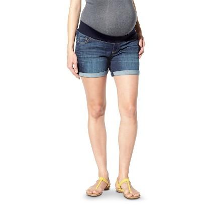 """Maternity Under-Belly 6"""" Denim Shorts Blue-Liz Lange® for Target®"""
