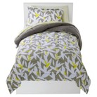 Room Essentials® Twin XL Abstract Leaves Bed In A Bag - Gray/Yellow