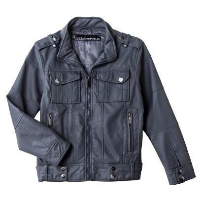 Urban Republic Boys' 4-Pocket Faux Leather Aviator Jacket