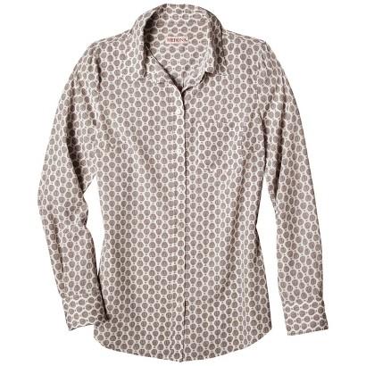 Women's Plus Size Long Sleeve Button Down Shirt-Merona®